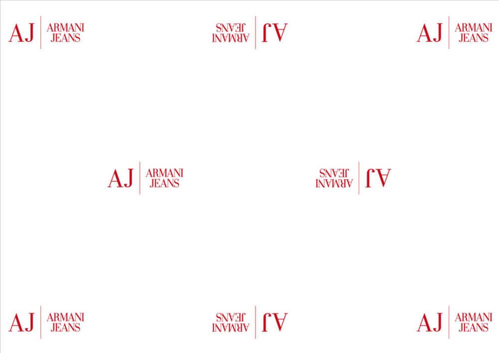 carta velina per abbigliamento, per confezionare abiti personalizzata Armani Jeans