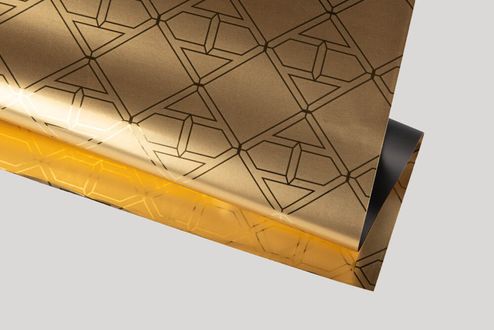 Carta da involgere personalizzata con logo -Carta Metallizzata