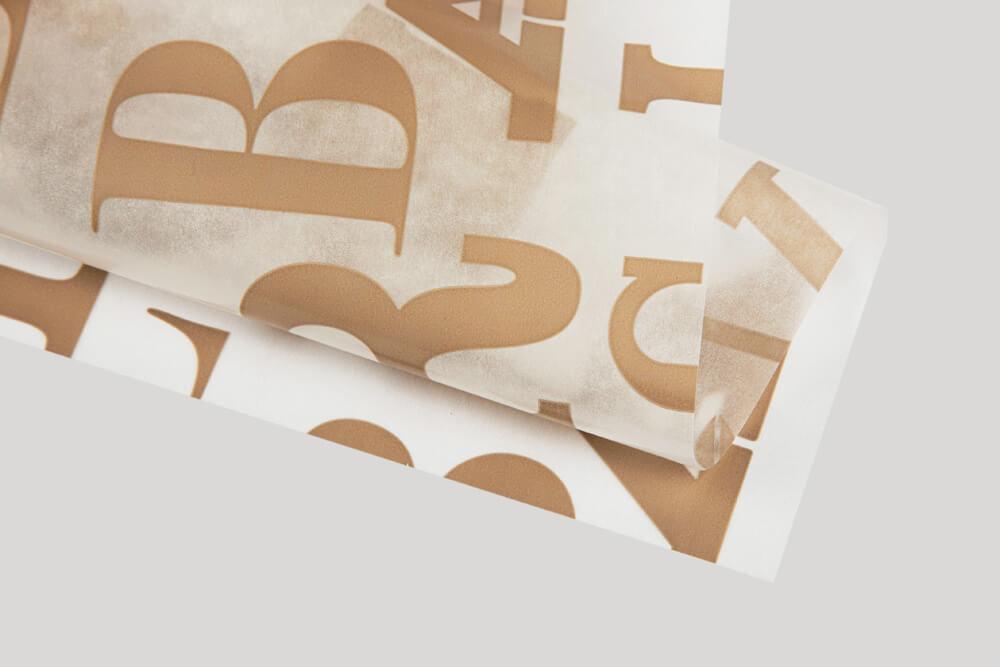 Esempio di carta paraffinata personalizzata