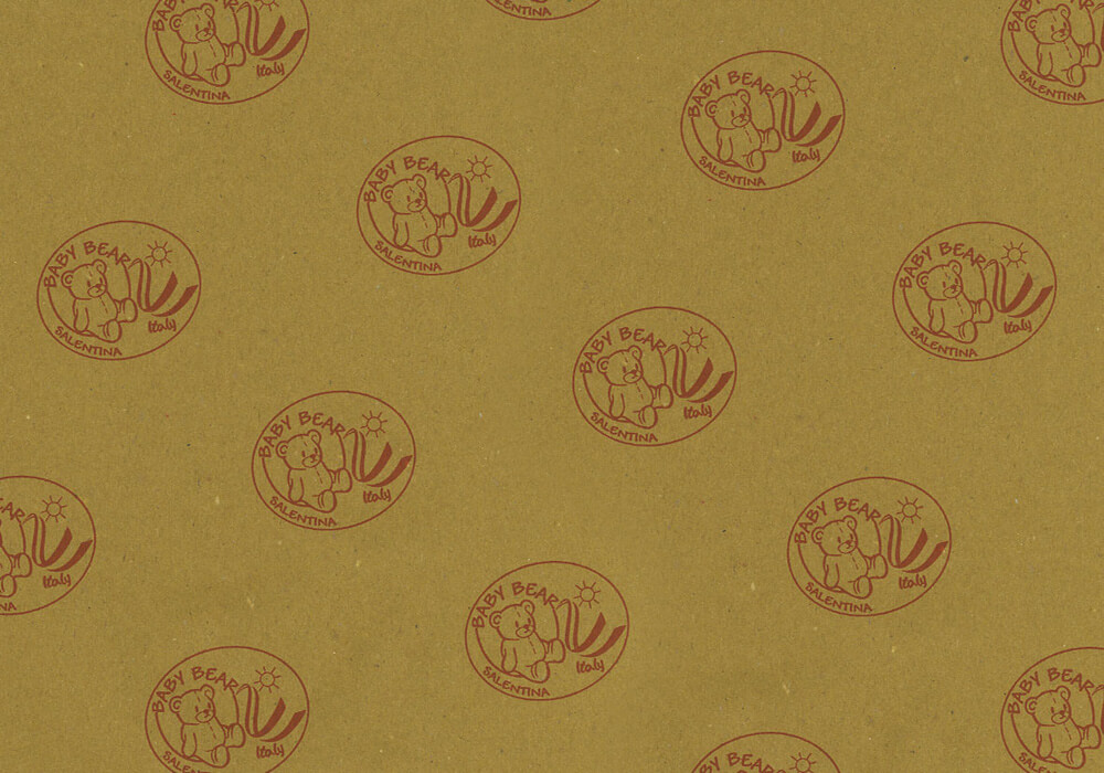 Carta paglia per alimenti - carta paglia personalizzata con logo BABY BEAR