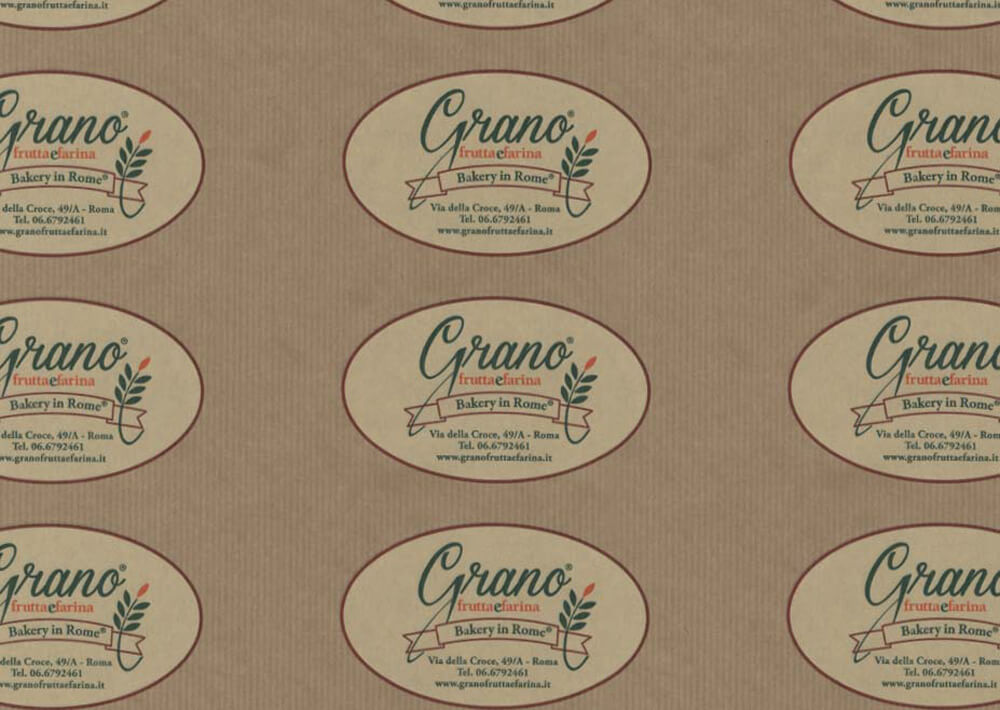 Carta per alimenti - Carta sealing alimentare colorata personalizzata Grano