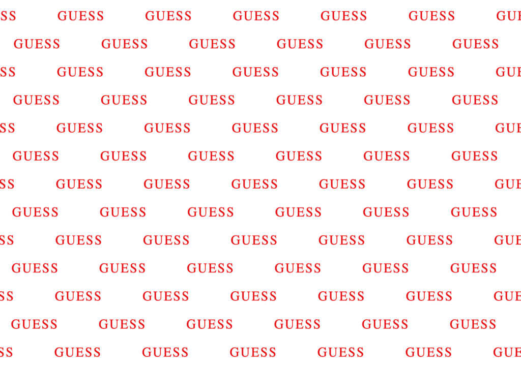 Carta velina per calzature e scarpe personalizzata Guess
