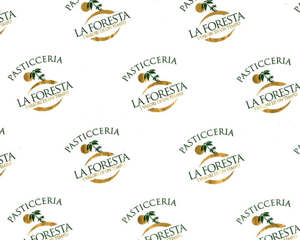 carta pergamino - carta pergamino personalizzata con logo Pasticceria La foresta