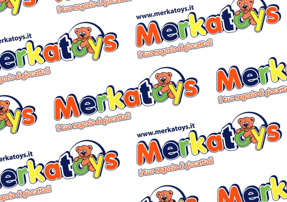 Carta patinata - carta da pacchi personalizzata con logo MERKAT-TOYS