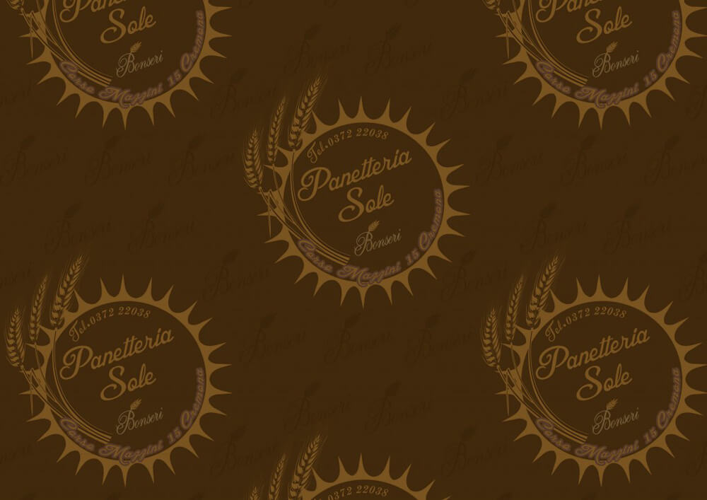 Carta per alimenti - Carta velina alimentare colorata personalizzata Panetteria Sole