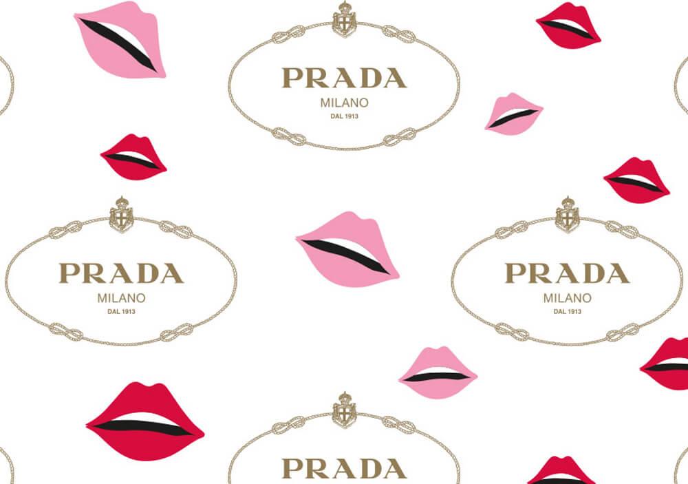 Carta velina per abbigliamento per confezionare abiti personalizzata Prada