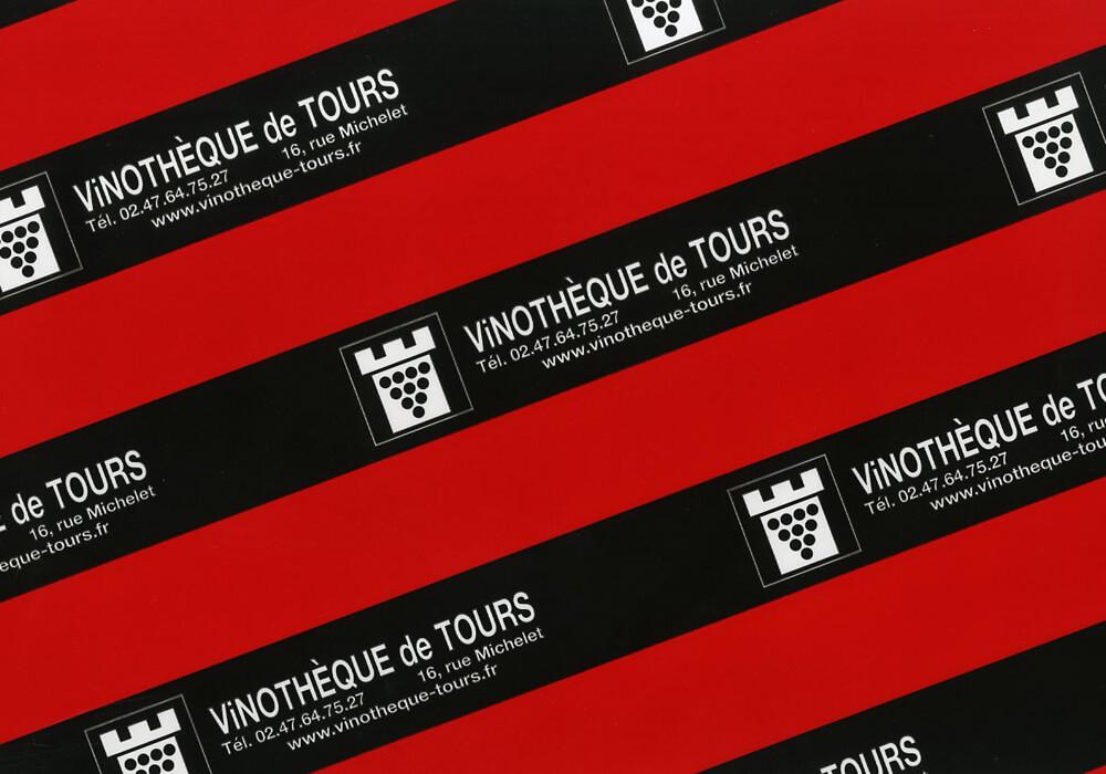 Carta plastificata - carta plastificata personalizzata con logo VINOTHEQUE DE TOURS